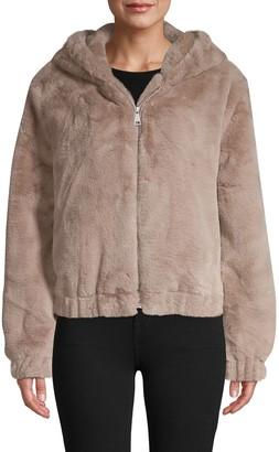 Bagatelle Hooded Faux Fur Jacket