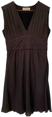 Mauro Grifoni Brown Silk Dress for Women
