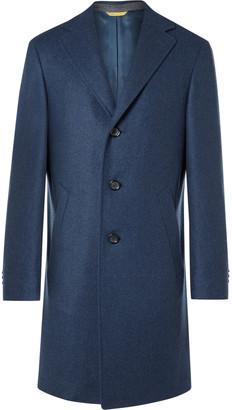 Canali Kei Slim-Fit Double-Faced Wool Overcoat - Men - Blue