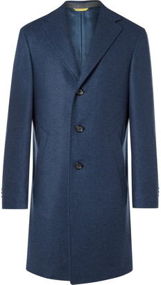 Canali Kei Slim-Fit Double-Faced Wool Overcoat