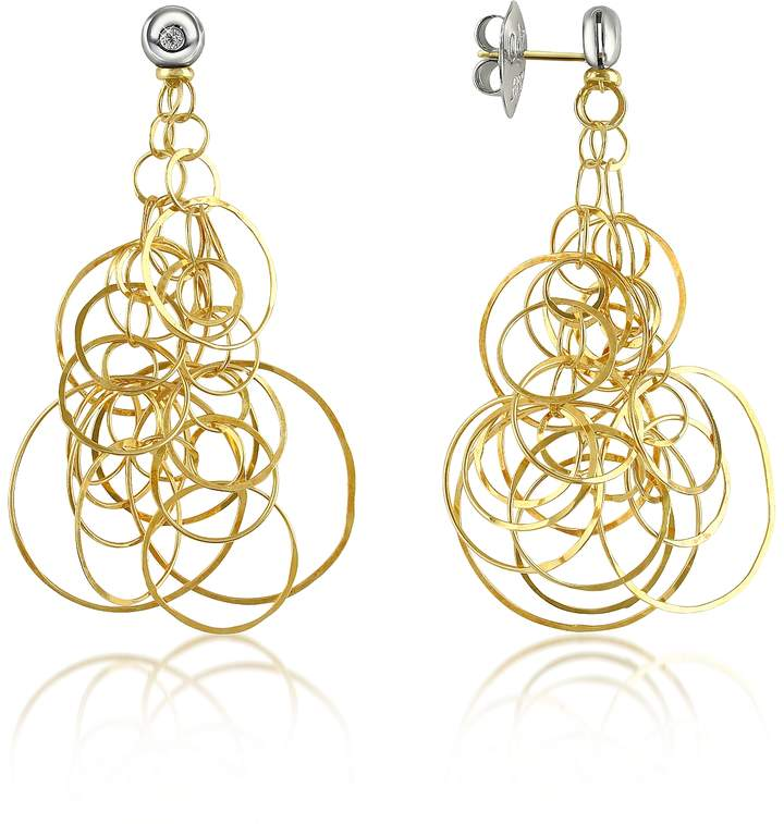 Orlando Orlandini Scintille - Diamond 18K Gold Drop Earrings