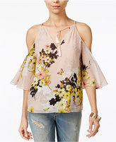 GUESS Val Cold-Shoulder Peasant Top