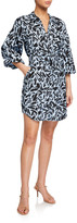 Veronica Beard Samy Printed Shirtdress