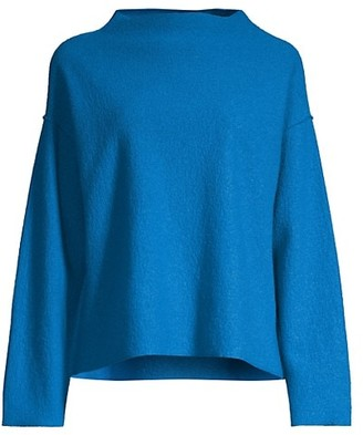 Eileen Fisher Funnel-Neck Boxy Top