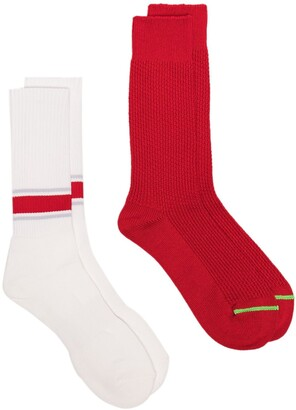 Anonymous Ism Pair Of Two Ribbed Socks Set
