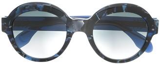 Emmanuelle Khanh Round Frame Tortoiseshell Sunglasses
