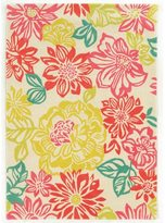 Linon Trio Collection Brights Floral Multicolored Area Rug (8' x 10')