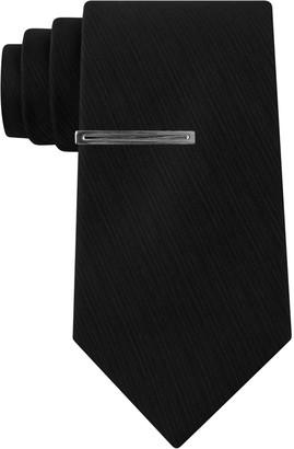 Van Heusen Men's Patterned Skinny Tie and Tie Bar