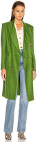 Smythe Overcoat in Grass Herringbone | FWRD