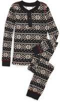 Hanna Andersson Toddler Boy's Fair Isle Print Organic Cotton Two-Piece Fitted Pajamas