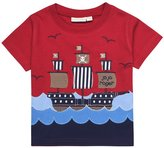 Jo-Jo JoJo Maman Bebe Pirate Ship T-Shirt (Baby)-Red-12-18 Months