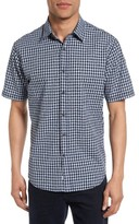 James Campbell Men's Jacquard Gingham Sport Shirt