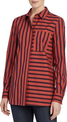 Lafayette 148 New York Ruxton Striped Button-Down Shirt