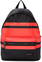 Diesel Black and Red Iron Backpack