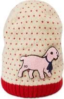 Gucci lamb patch beanie hat