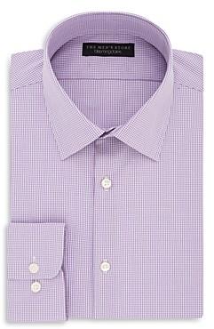 The Men's Store at Bloomingdale's Micro Gingham Regular Fit Dress Shirt - 100% Exclusive