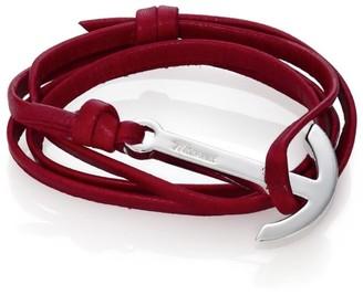 Miansai Modern Anchor Leather Wrap Bracelet