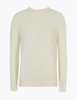 Marks and Spencer Soft Touch Ribbed Long Sleeve Jumper