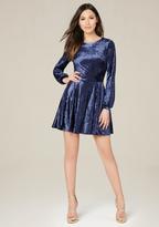 Bebe Velvet Flared Dress