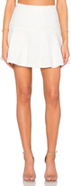 Bobi BLACK Mixed Chiffon Lace Skirt