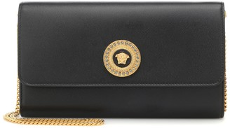 Versace Medusa leather clutch