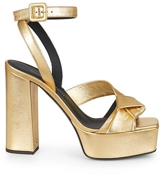 Giuseppe Zanotti Laila Metallic Leather Platform Sandals