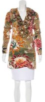 Gucci Floral Print Silk Tunic