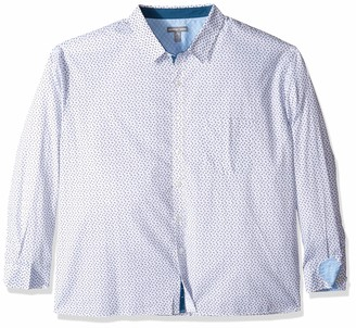 Geoffrey Beene Men's Big & Tall Big and Tall Easy Care Long Sleeve Button Down Shirt