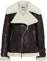 Thumbnail for your product : Walter Baker Whitney Faux Fur-trimmed Leather Biker Jacket