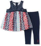 Tommy Hilfiger Two-Piece Woven Floral Tunic and Capri Pants Set