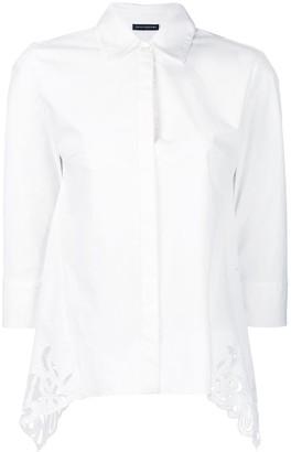 Josie Natori Cotton Poplin Shirt