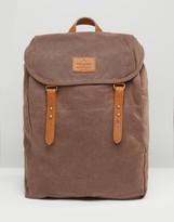 Asos Backpack In Brown Canvas