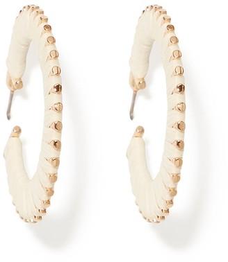 Forever New Heidi Paper Hoop Earrings - Natural - 00