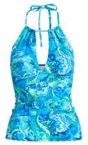Ralph Lauren Slimming Paisley Tankini Blue Multi 4