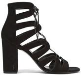 Saint Laurent Babies Lace-up Leather Sandals - Black