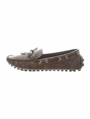 Louis Vuitton Monogram Leather Loafers Brown