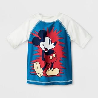 Junk Food Clothing Toddler Boys' Disney Mickey Mouse Rash Guard - 2T