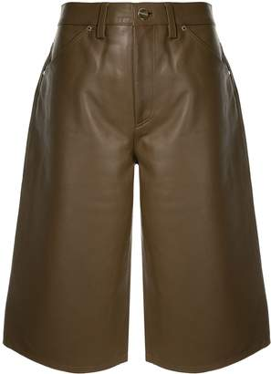 Gold Sign high-rise culotte shorts