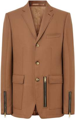 Burberry Wool Single-Breasted Jacket