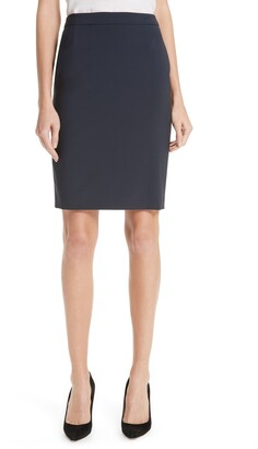 HUGO BOSS Vilea Stretch Wool Pencil Skirt