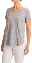 Yummie Tummie Jersey Burnout Side Vent T-Shirt - Short Sleeve (For Women)