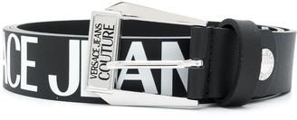 Versace Logo-Print Buckle Belt