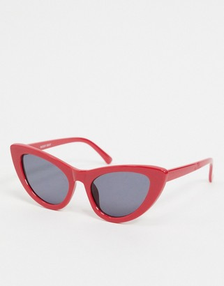 Noisy May cat eye sunglasses in red