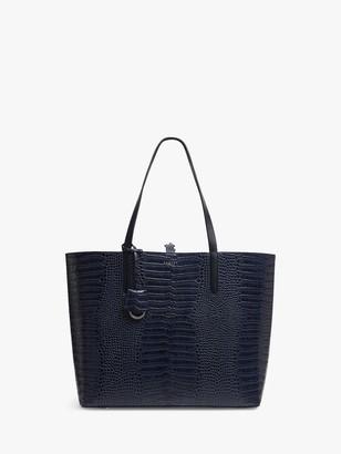 Radley Sand Street Faux Croc Leather Open Top Shoulder Bag