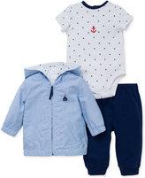 Little Me 3-Pc. Sailor Jacket, Bodysuit & Pants Set, Baby Boys (0-24 months)