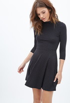 Forever 21 Polka Dot Turtleneck Dress