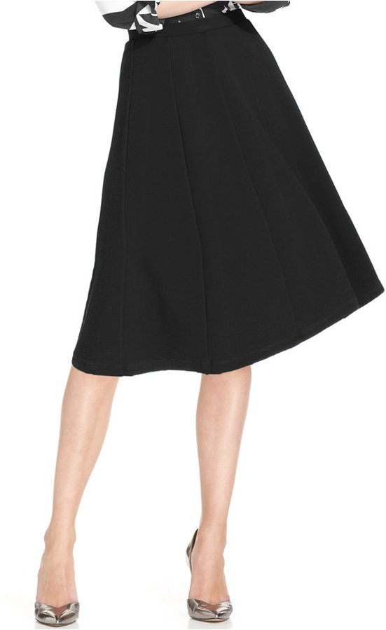 NY Collection Seamed A-Line Skirt