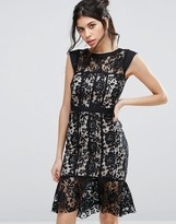 Paper Dolls Lace Dress With Peplum