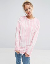 Asos T-Shirt with Bleach Print With Long Sleeves