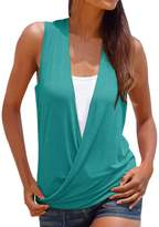Changeshopping Women's Fashion Hot Summer Vest Top Sleeveless Shirt Casual T-Shirt (L, )